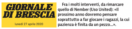 Giornale di Brescia 27/4